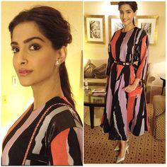 The lovely @sonamkapoor wearing Roksanda Illincic in Melbourne ❤️❤️❤️