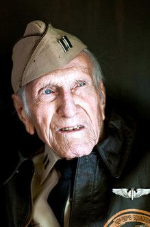 "Louis Zamperini. If you don't know this man's story you're missing out. His extraordinary life is the subject of the bestseller UNBROKEN by Laura Hillenbrand. The movie of the same name comes out Christmas Day. Truly an exemplary example of the ""Greatest Generation"""