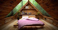 chambre mansardée élégante idée design