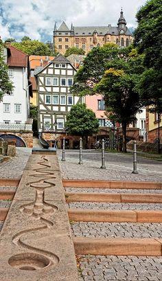 Marburg town, Hesse, Germany   by Norbert Ruffert