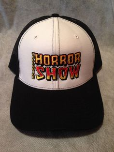 14950987d8d Telluride Horror Show Hat  Embroidered Logo (White Black) Horror Show
