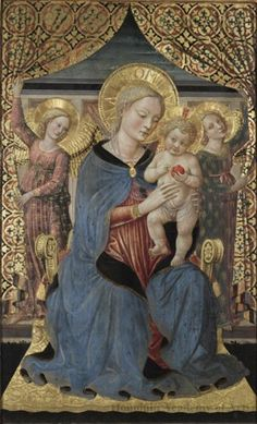 Follower of Benozzo Gozzoli - Madonna and Child with Angels, mid-15th century