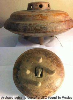 Artefato representando Disco Voador, supostamente encontrado no México