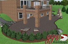 Landscape Design in Auburn Hills, MI 48326. 3D Landscape Design with Walkout Basement. #landscapedesign #walkout #basement