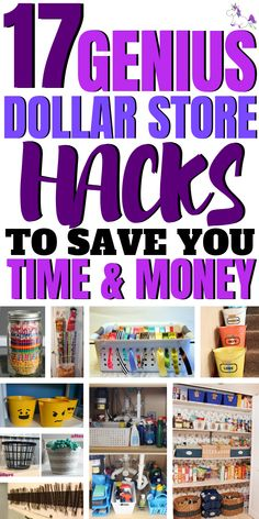 17 Cheap & Easy Dollar Store Hacks That Are Actually Genius, Diy And Crafts, 17 Genius Dollar Store Hacks To Save You Time & Money, These DIY dollar store hacks will organize your home & save you a ton of money! Diy Hacks, Organizing Hacks, Organization Hacks, Cleaning Hacks, Dollar Tree Organization, Organization Station, Bedroom Organization, Cleaning Checklist, Organising