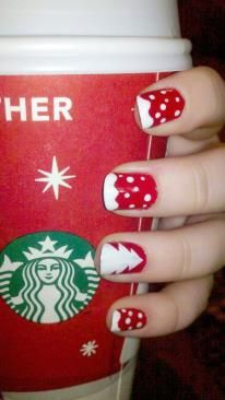 Love these cheery Christmas nails