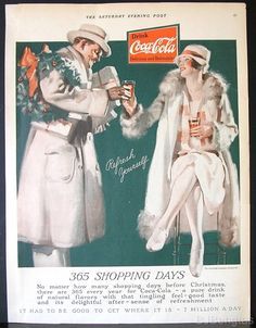 So what I'm seeing is... drink coke and a man will bring you fur coats and soda. Check!