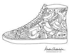 Shoes coloring page| Kendra Shedenhelm