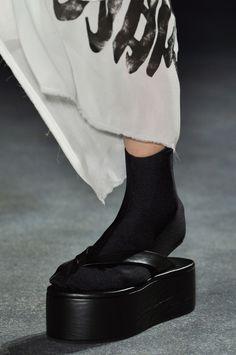Yohji Yamamoto platform shoes with Japanese tabi socks