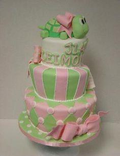 Turtle baby cake.