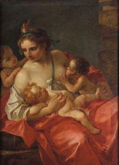 La Charité Charles-Joseph Natoire, 1765 Huile sur toile, 116 x 86 cm Collection privée