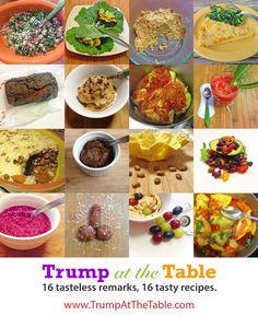 Trump at the Table eCookbook 16 hilarious vegan, gluten-free recipes based on Donald Trump quotes #humor #food humor #donaldtrump #healthy #vegan #gluten-free