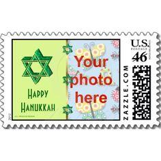 Hanukkah photo postage stamp Star of David