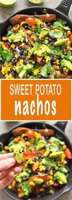 Healthy Sweet Potato Nachos - comfort food at its best!