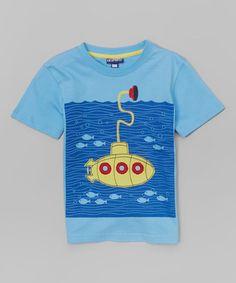 Blue Submarine Tee - Toddler #zulily #zulilyfinds