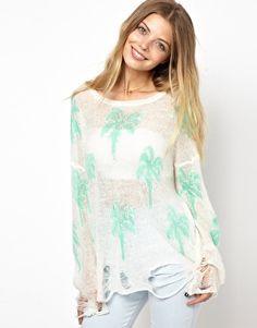 summery sweater {love the palm tree print}