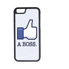 CellPowerCasesTM Like A Boss Geek Funny iPhone 6 (4.7) Protective V1... ($13) ❤ liked on Polyvore featuring accessories, tech accessories, phone cases and black