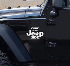 COME TO THE JEEP SIDE - Star Wars Dark Side Geek Fun Car Vinyl Sticker Decal
