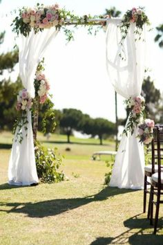 Outdoor wedding altar wedding altar designs for country rustic outdoor wedding ceremony ideas garden wedding aisle . Wedding Ceremony Ideas, Outdoor Wedding Altars, Diy Outdoor Weddings, Wedding Arch Flowers, Outdoor Ceremony, Rustic Outdoor, Diy Wedding, Summer Wedding, Trendy Wedding