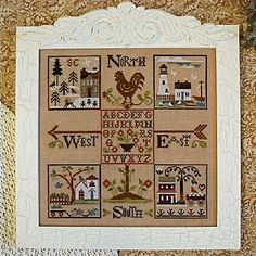 LITTLE HOUSE NEEDLEWORKS - The Weathervane - Part 2 - North and South
