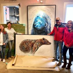 Such a great time delivering my commissions — & meeting some of my awesome Collectors at Park City Fine Art over the weekend! Colorful Animals, Wildlife Art, Park City, Weekend Is Over, Office Ideas, Galleries, Contemporary Art, Fine Art Prints, Original Paintings