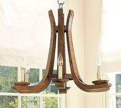 simple wood chandelier