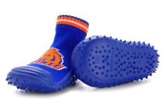 Skidders Boise State Broncos Kids Slip-Resistant Indoor/Outdoor Slip-On Hybrid Shoes with Socks SkidDERS. $19.99