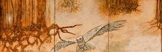 "Charlotte Shristi Art Gallery ""Farewell to Home""; encaustic"