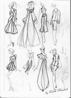 эскизы одежды , fashion illustration , дизайнер Лана Кмекич