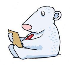 Photoshop Illustration-Polar Bear Cute Character for an education book www.bretthudsonart.com