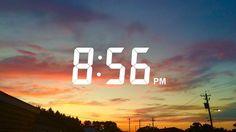 clock, clouds, color, dark, goth, high, night, pastel, sky, street ...