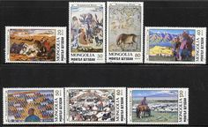 Mongolia 1989 domestic animals ON paintings MNH HORSES, CAMELS, CATTLE, FOOD | eBay
