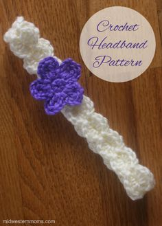 Crochet Flower Headband Pattern I made this cute little headband for my niece for Christmas. The crochet headband pattern is real easy to make and you can whip it up in no time.Whip It Whip It may refer to: Bandeau Crochet, Crochet Flower Headbands, Crochet Headband Pattern, Crochet Flowers, Lace Headbands, Fabric Flowers, Baby Girl Crochet, Crochet Baby Hats, Crochet For Kids