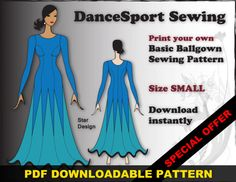 Ballroom and Latin Gown Sewing Pattern PDF by DanceSportSewing, $30.00