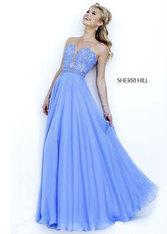 Sherri Hill 32180 Strapless Lace Dress #CrushingOnRissyRoos