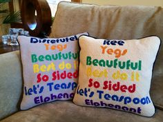 Custom Kids #Needlepoint Word Pillows