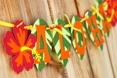 Aloha Luau Banner by prettypaperparty on Etsy Adult Luau Party, Luau Pool Parties, Luau Theme Party, Hawaiian Party Decorations, Aloha Party, Tiki Party, Party Themes, Hawaiian Birthday, Hawaiian Theme
