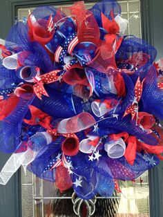 60 Amazing 4th July Wreaths For Your Front Door | DigsDigs