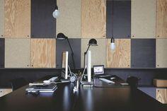 Les bureaux de Claire Escalon et Nicolas Lanno (Premier Etage) - Rangements Ikea habillés de Mdf et agglo