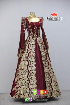 Bindallı modelleri online satış Kids Party Wear Dresses, Gown Party Wear, Royal Dresses, Old Dresses, Renaissance Wedding Dresses, Hijab Style Dress, Muslim Dress, Medieval Dress, Vintage Gowns