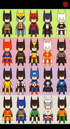 Batman disguised as every other hero