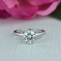1.5 Carat Engagement Ring 6 Prong Solitaire Ring by TigerGemstones