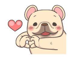 Missing you like crazy.I've had you on my mind ALL weekend long. Cute Cartoon Characters, Cartoon Gifs, Gif Animé, Animated Gif, Bulldog Gif, Weekend Gif, Happy Gif, Sad Anime Girl, Cute Messages