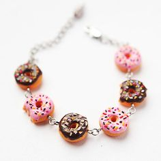 Bracelet of donuts  Fashion Jewelry  Gift for her  by Nechegonadet, $36.00