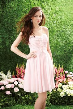 Scalloped Neckline Above Knee Length Chiffon Embellished With Ruffles