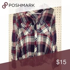 Flannel Super comfy lightweight flannel size medium. Don't be shy to offer, I'm excepting reasonable ones! (: Tops Button Down Shirts