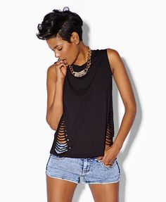 Bolt Stud Muscle Tee | FOREVER21 - 1062759532