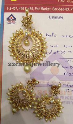 Jewellery Designs: 34 Grams Pearl Pendant