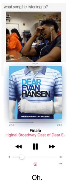 It should be words fail or, so big/ so small or, for forever or, waving through a window or, damn. there are a lot of tear jerkers in this musical. Theatre Nerds, Musical Theatre, Querido Evan Hansen, Dear Evan Hansen Musical, Depressing Songs, Dear Even Hansen, Ben Platt, Hansen Is, Out Of Touch