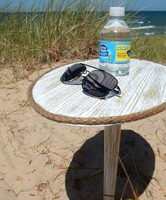 Beach Sand Table  Portable Spike Table  by HarborsideCollection